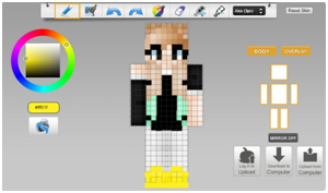 Minecraft skin editing tool example